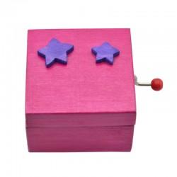Caixa música rosa